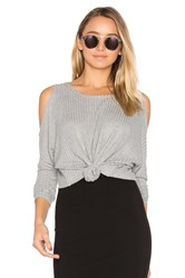 Chaser Cold Shoulder Dolman Thermal Tee Gray