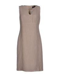 Cividini Knee Length Dresses Light Brown