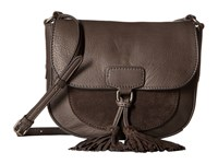 Frye Clara Saddle Smoke Soft Vintage Leather Suede Handbags Brown