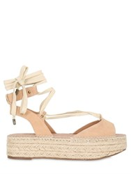 Kg By Kurt Geiger 30Mm Marlo Leather Lace Up Sandals