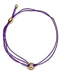 Alex And Ani Kindred Cord Peace Sign Bracelet Charity By Design Collection Purple