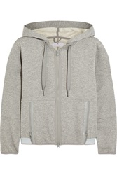 Adidas By Stella Mccartney Essentials Cotton Blend Jersey Hooded Sweatshirt Gray