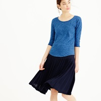 J.Crew Indigo Vintage Cotton Three Quarter Sleeve Dolman Tee