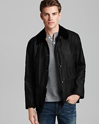 Barbour Ashby Tailored Waxed Cotton Coat Black