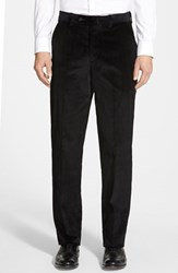 Men's Big And Tall Berle Flat Front Corduroy Trousers Black