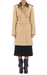 J.W.Anderson Women's Wool Blend Embellished Trenchcoat Tan