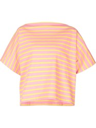 Jil Sander Oversized Striped T Shirt Pink And Purple
