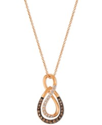Le Vian Chocolatier Diamond Infinity Pendant Necklace 1 3 Ct. T.W. In 14K Rose Gold
