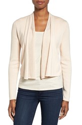 Nic Zoe Women's Simply Sweet Open Front Cardigan White Peach