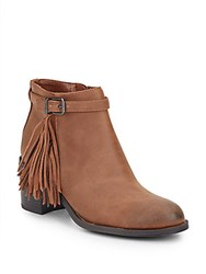 Sam Edelman Jolie Leather Fringe Booties Saddle