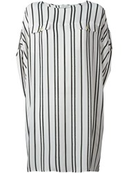 Pierre Balmain Striped Loose Dress White