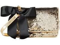 My Flat In London Sparkle Small Sequin Flap Bag Gold Shoulder Handbags
