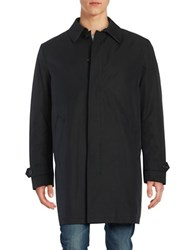 Lauren Ralph Lauren Button Front Insulated Rain Coat Black