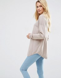 Asos Tunic With High Neck In Cashmere Mix Mink Marl Pink