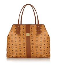 Mcm Heritage Reversible Shopper Bag Female Cognac