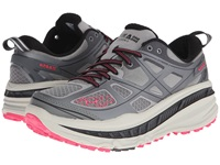 Hoka One One Stinson 3 Atr Grey Neon Pink Women's Running Shoes Gray
