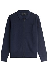 A.P.C. Wool Cardigan Blue
