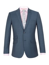 Racing Green Harris Jaspe Tailored Fit Jacket Airforce Blue