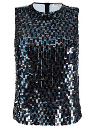 Emilio Pucci Sequin Embellished Tank Top Black