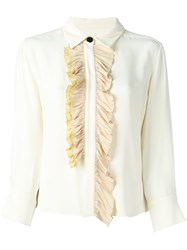 Marni Ruffled Blouse Nude And Neutrals