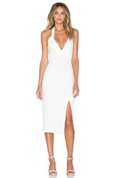 Nicholas Ponti Diamond Cut Out Dress White