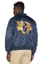 10.Deep Tiger Claw Satin Jacket Navy
