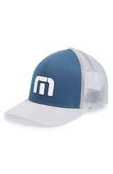 Travis Mathew 'Sure Thing' Snapback Hat Blue Grey