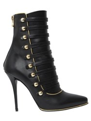 Balmain 110Mm Alienor Leather Boots