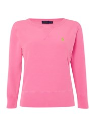 Polo Ralph Lauren Long Sleeve Crew Neck Sweater Pink