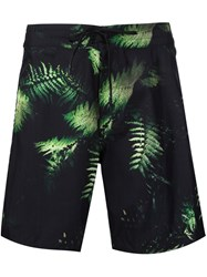 Outerknown Fern Print Shorts Black