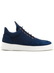 Filling Pieces Low Top Quilted Sneakers Blue
