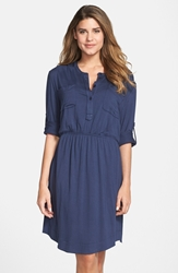 Kut From The Kloth Woven Shirtdress Navy