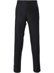 Givenchy Leather Trim Trousers Black