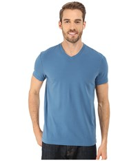 Kenneth Cole Sportswear Short Sleeve V Neck Faded Blue Men's Short Sleeve Pullover