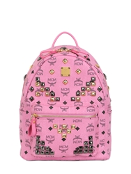 Mcm Small Stark Studded Backpack Pink