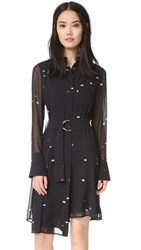 Grey Jason Wu Long Sleeve Shirtdress Black Multi