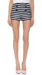 Red Valentino Striped Shorts Sky Blue