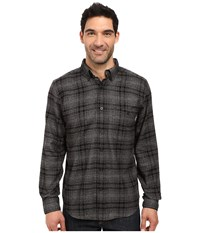 Woolrich Trout Run Flannel Shirt Gray Hunt Plaid Men's Long Sleeve Button Up