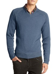 Robert Graham Cottage V Neck Sweater Dark Navy