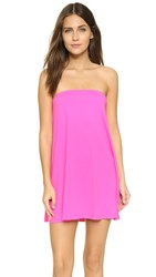 Susana Monaco Tube Drape Tunic Dress Pink Glo