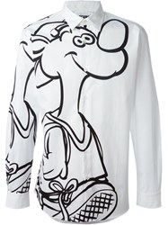 Moschino Printed Shirt White