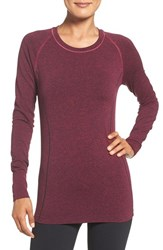 Zella Women's 'Chamonix' Long Sleeve Seamless Tee Pink Sport Heather
