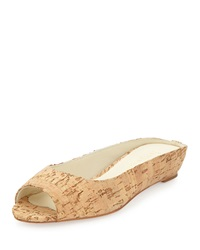 Bettye Muller Tangier Slip On Wedge Sandal Cork Gold Flecks