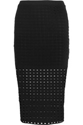 Alexander Wang T By Perforated Stretch Jersey Skirt Black
