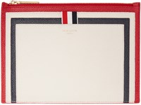Thom Browne Tricolor Leather Large Pouch