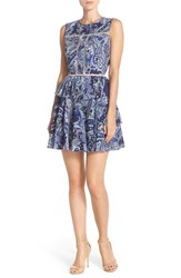 Women's Cynthia Rowley Paisley Print Peplum Woven Fit And Flare Dress
