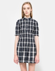 Ganni Kaori Check Shirt Dress Iris Check