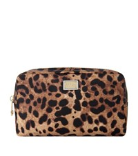 Dolce And Gabbana Small Cosmetics Bag Female Brown