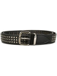 Eleventy Studded Belt Black
