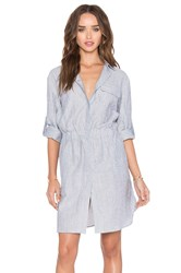 Atm Anthony Thomas Melillo Crinkle Shirt Dress Navy